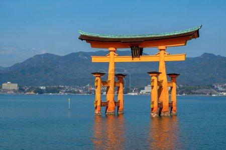 Photo for Itsukushima Shrine in the beautiful island of Miyajima, in Japan - Royalty Free Image