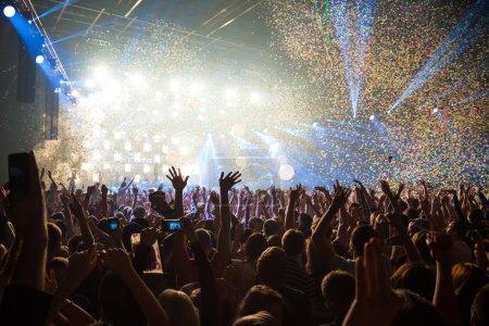 Photo pour Fête de concert amusant fond clair disco - image libre de droit
