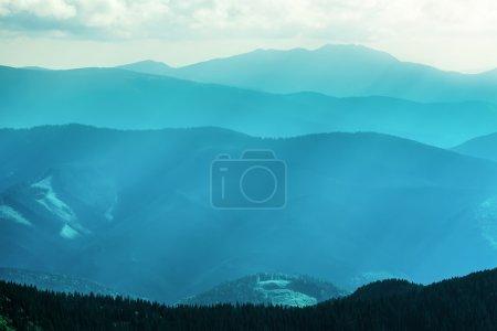 Mountain range  in summer