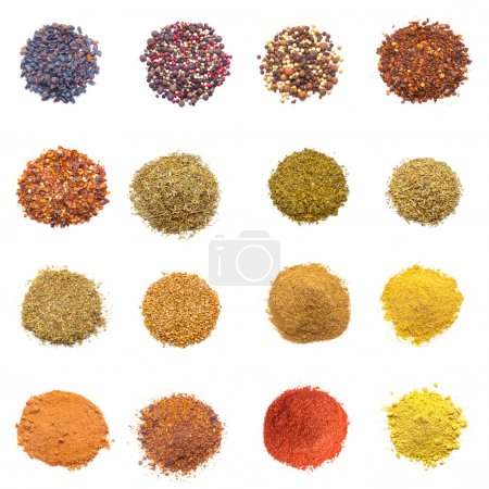 Colorful spices collection