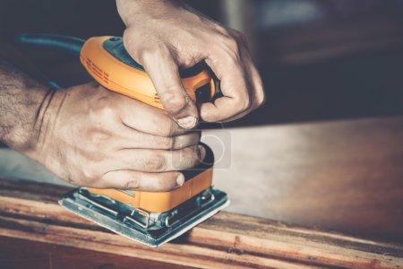 male carpenter at work