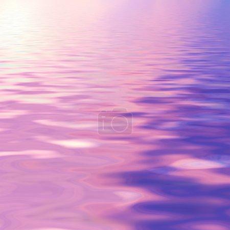 purple sky reflected in water