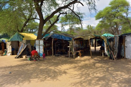 Craft market in Namibia