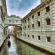 View on canal and  Doges Palace from bridge of sig...