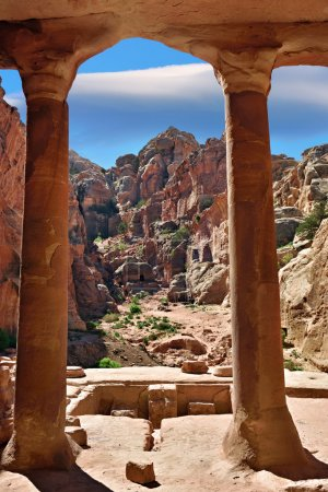 Photo for The Garden Hall in Petra, Jordan - Royalty Free Image