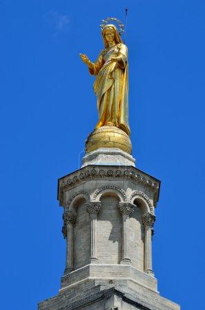 Sculpture of the Virgin Mary in Avignon