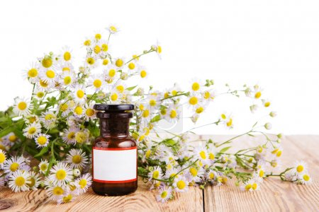Photo for Alternative medicine concept - bottle with camomile - Royalty Free Image