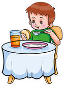 Boy having Breakfast