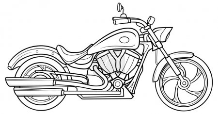Illustration for Sketch Motorcycle. vector illustration - Royalty Free Image