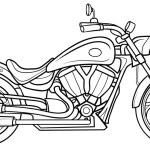 Sketch Motorcycle. vector illustration...