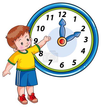 Boy and clock