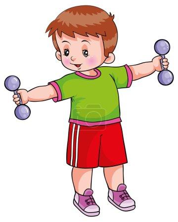 Illustration pour Entraînement de garçon. illustration vectorielle - image libre de droit