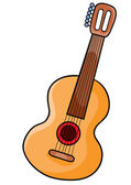 Guitar Cartoon illustration on white background