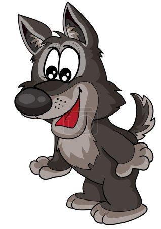 Wolf cartoon illustration