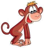 Cartoon happy Monkey