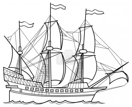 Sketch illustration of Yacht