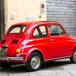 Постер, плакат: Vintage Fiat 500L on the street
