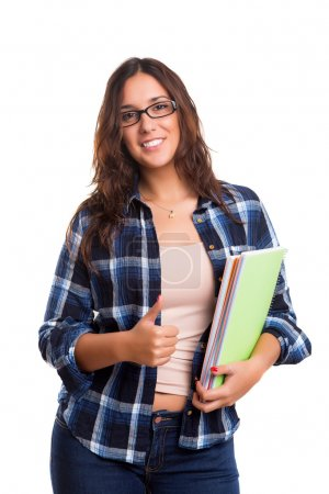 Young student posing