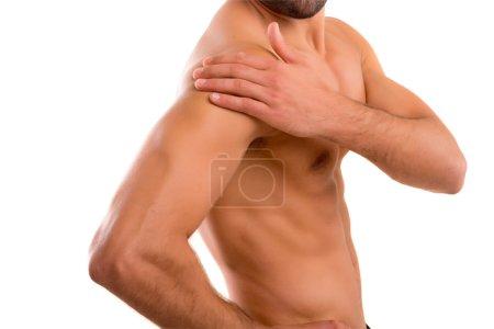 Back pain - studio shot