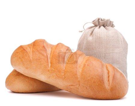 Fresh bread and flour sack