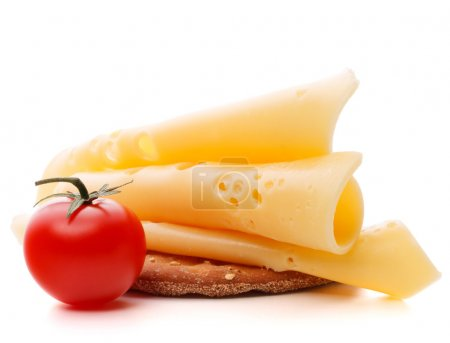Cheese sandwich with cherry tomato