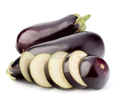 Eggplants or aubergine vegetables