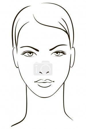 Illustration for Young woman face - Royalty Free Image