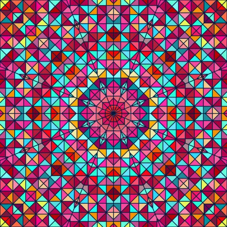 Abstract Colorful Digital Decorative Flower. Geometric Contrast
