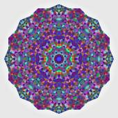 Abstract Digital Multicolor Geometrical Flower