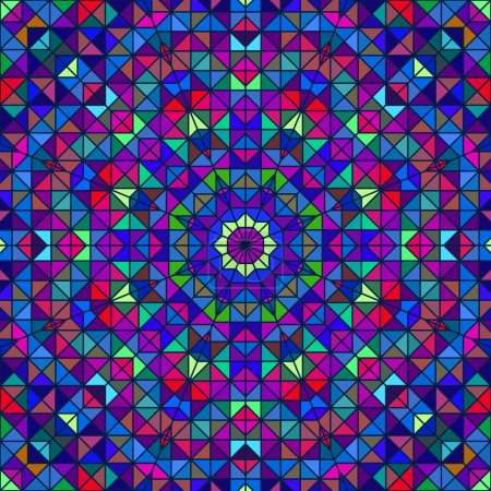 Abstract Colorful Digital Decorative Flower