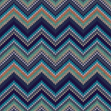 Seamless geometric ethnic spokes knitted pattern