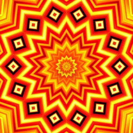 gelb-roter Sternen-Kaleidoskop-Hintergrund
