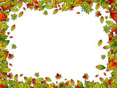 Autumn Bright Leaf Border or Frame With Copyspace