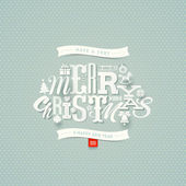 Christmas type design - vector illustration