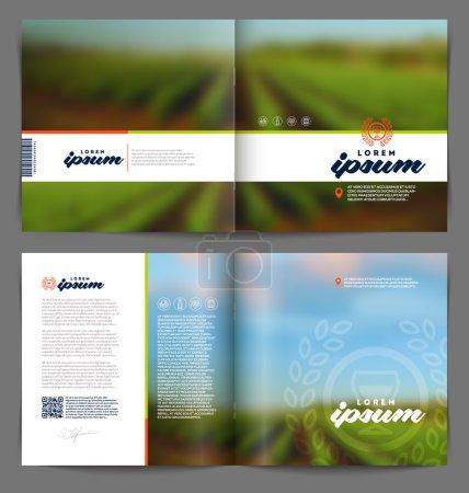Illustration pour Modèle vectoriel conception de page de livret - Vin et vinification - image libre de droit