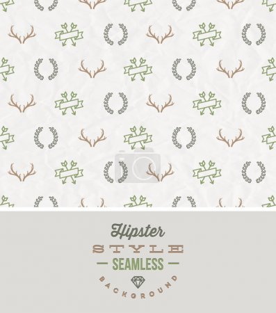 Hipster style seamless background - Vector illustration