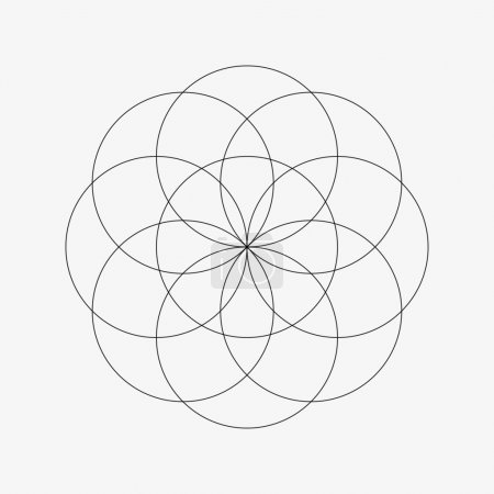 Illustration for Sacred Geometry. Symbol of Harmony and Balance. Vector Illustration. - Royalty Free Image