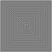 Abstract Square Spiral Vector Illustration