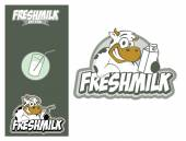 Logo design element Cow Fresh Milk