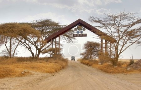 Entrance gate by the border of the famous serengeti national park