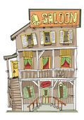vintage american saloon