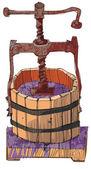 rusted wine press