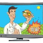 TV advertising - hamburger - cartoon...