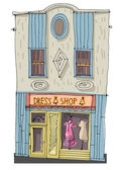 wild west facade - cartoon