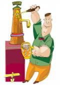 Barman - ruční nákres