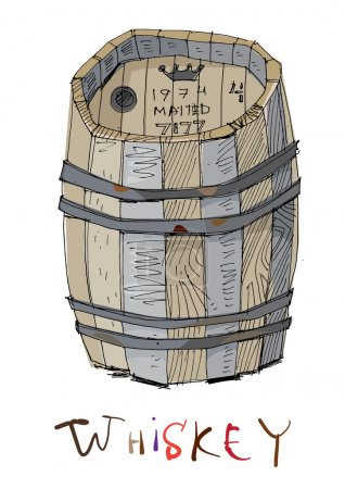 old barrel of whiskey