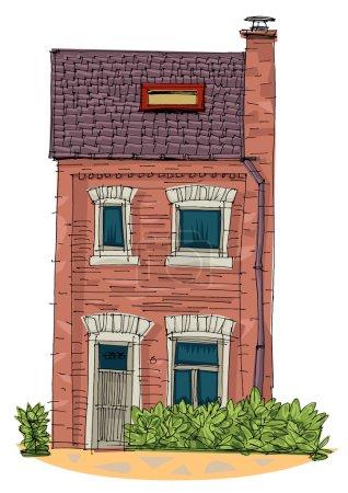 usual house - cartoon