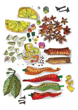 spices - cartoon food