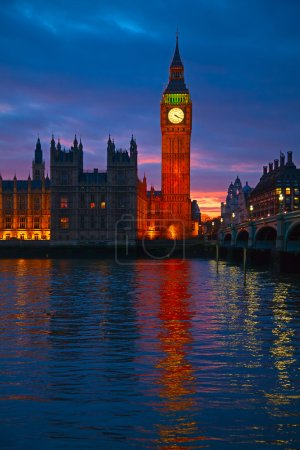 Big Ben clock tower.