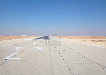 Runway of the Riyadh airport